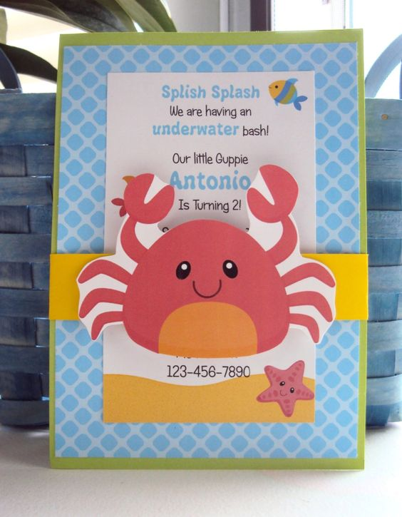 Under the Sea Invitations Childrens Birthday by TooCuteInvites – Childrens Birthday Invitation