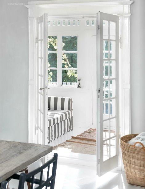 French doors can open up a small room and make it feel spacious