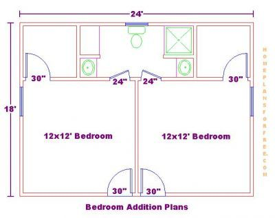 Bedroom addition ideas addition with 2 bedrooms and Bedroom addition floor plans