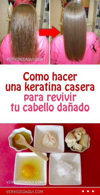 Como Hacer Una Keratina Casera Para Revivir Tu Cabello Dañado Keratuba Queratina Mascarilla Cabello Hair Beauty Coconut Oil Hair Care Beauty Tips For Face