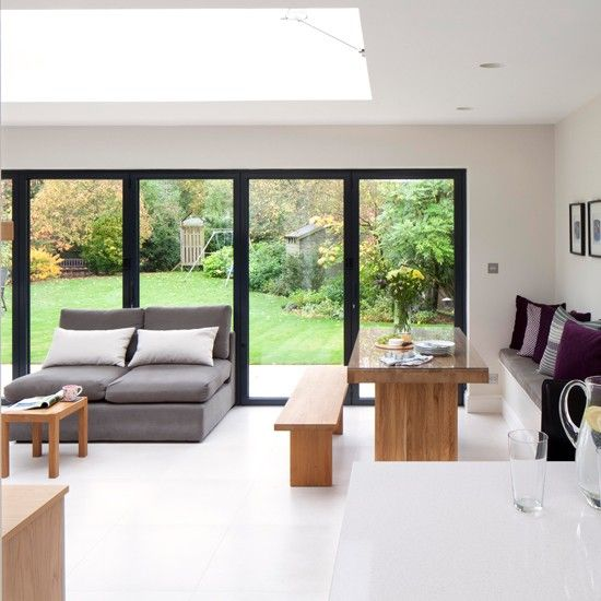 White And Oak Kitchen Diner: Open Plan Living, Diners And Bi Fold Doors On Pinterest