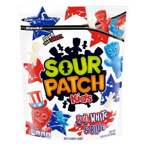 Sour Patch Kids Red White Blue Soft Chewy Candy 1 9 Lb Bag Sour Patch Kids Sour Patch Chewy Candy