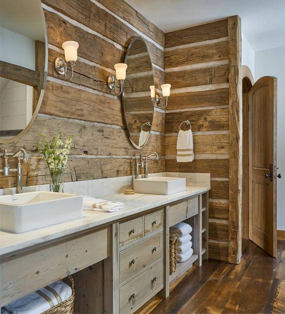 Rustic Ideas For Interior Walls And Decor Designs Rustic Home Decor And Design Ideas Rustic Bathroom Designs Rustic Bathrooms Rustic Bathroom