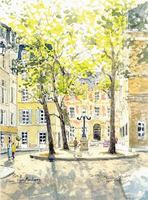 6e,e Paris «La place de Furstenberg»  IN the heart of Saint Germaine de Pres