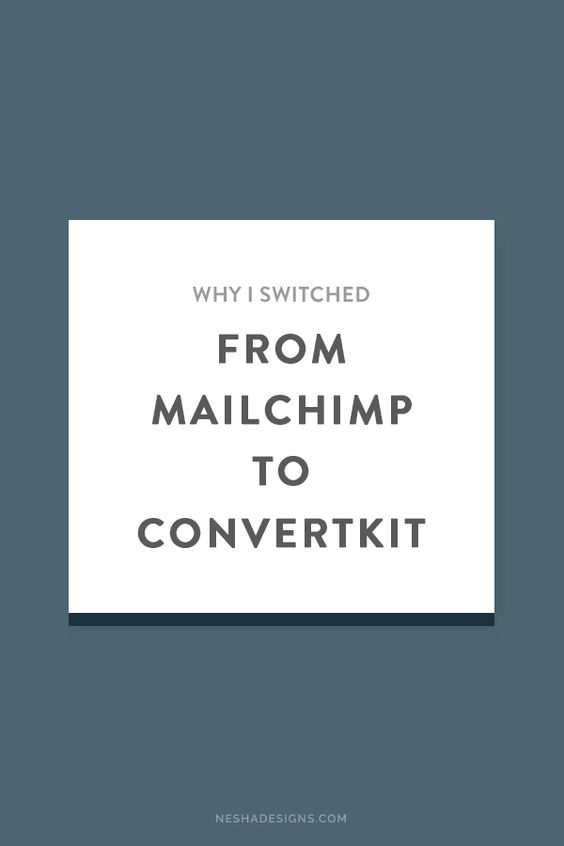 Why I switched from Mailchimp to convertkit and the pros and cons of both. Convertkit allows for easy segmentation, really simple email courses, and it only counts a subscribers as ONE subscriber no matter how many times they sign up. To learn more just click through to the blog post!