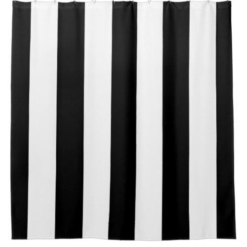 Black And White Vertical Stripes Shower Curtain Zazzle Com