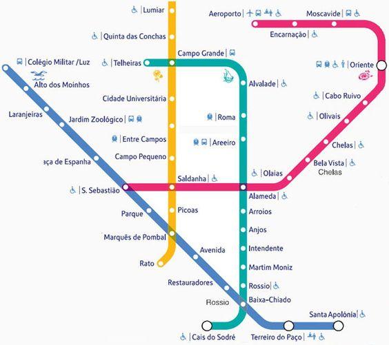 Lisbonne  Metro plan 2016                                                       …