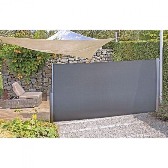 Seitenmarkise 300x160 Cm Anthrazit Und Beige Markise Haus Und Garten Trennwand Terrasse