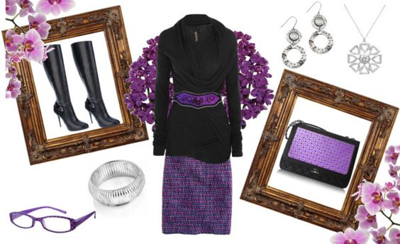 """""""Purple and Black"""" by angieljw ❤ liked on Polyvore"""