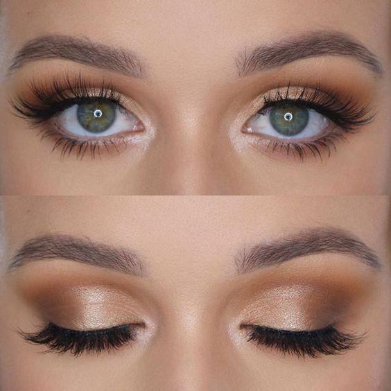 Wedding Makeup Ideas Bridal Makeup Natural Makeup Ideas Weddingmakeup Makeup Eyemakeupsimple Gold Eye Makeup Bridesmaid Makeup Bridal Makeup Natural