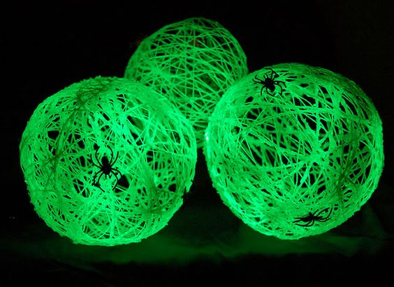 Glow in the dark spider balls Halloween Pinterest Glow stick