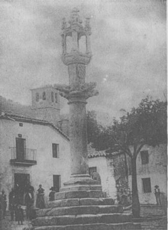 Rollo de Castillo de Bayuela (Toledo). Principios del s.XVI. Imagen de 1917