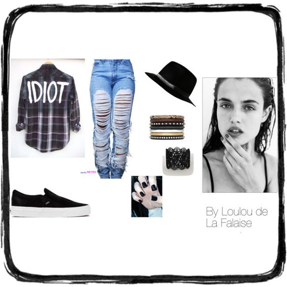 #3 by louloudelafalaise on Polyvore featuring mode, Vans and Yves Saint Laurent
