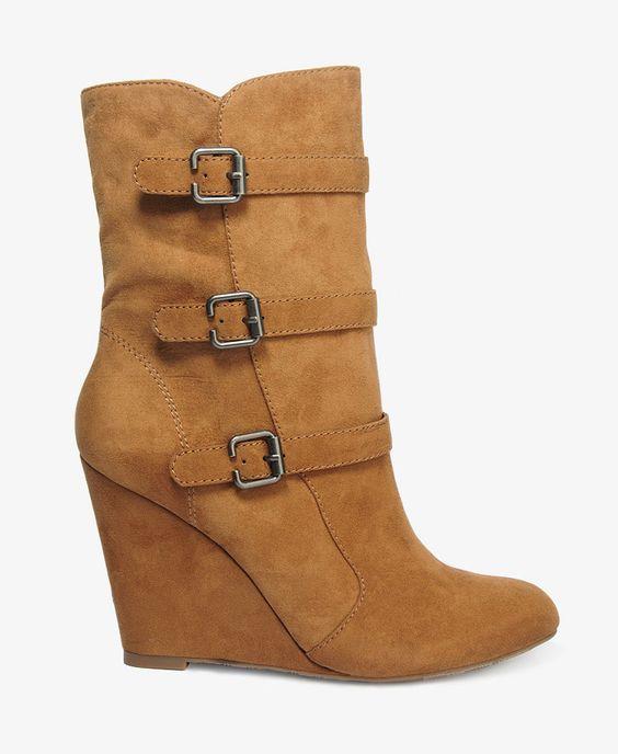 Bottes en simili suède - Chaussures - 2021840625 - Forever 21 EU