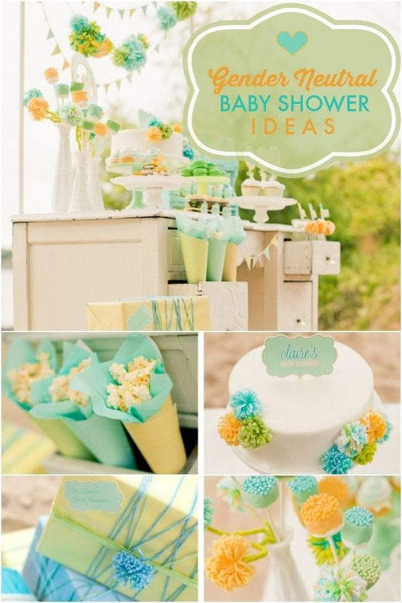 Gender Neutral Baby Shower Party Ideas: