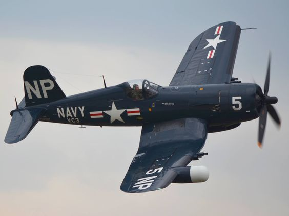 This beautiful U.S. Navy Vought F4U-2 Corsair night fighter photo was taken at Pease, NH, Aug. 2011.