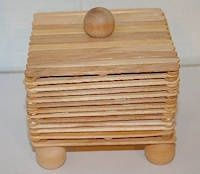 how to make a treasure box out of popsicle sticks
