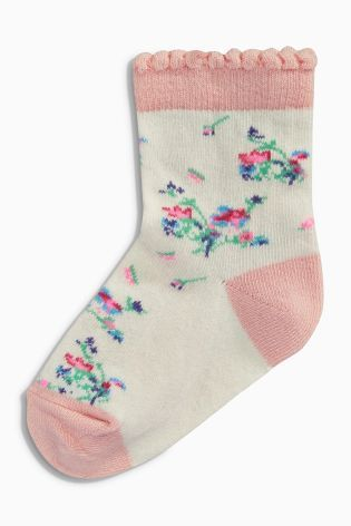 Kaufen Sie Socken mit schönem Blumenmotiv, gestreift und mit Sternen, Siebenerpack (Jüngere Mädchen) heute online bei Next: Deutschland