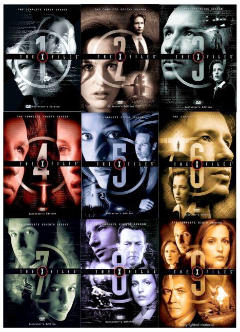 the xfiles seasons 19 dvd covers the xfiles