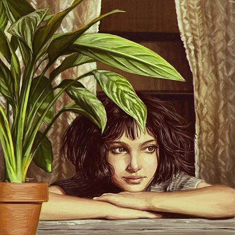 Leon The Professional Cute Flower Wallpapers Movie Poster Art Artwork