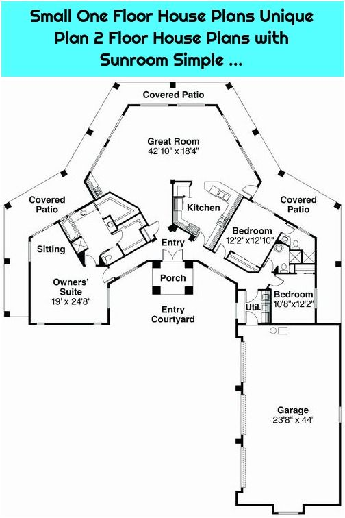 1 Small One Floor House Plans Unique Plan 2 Floor House Plans With Sunroom Simple Small One Floor House Fl In 2020 One Floor House Plans House Plans How To Plan