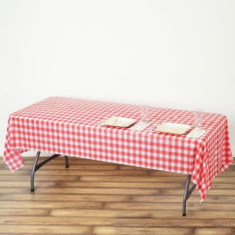 Buffalo Plaid Tablecloth 54 X 108 Rectangular Spill Proof Tablecloths White Red Disposable Checkered Plastic Vinyl Waterproof Tablecloths Table Cloth Plaid Tablecloth Waterproof Tablecloth