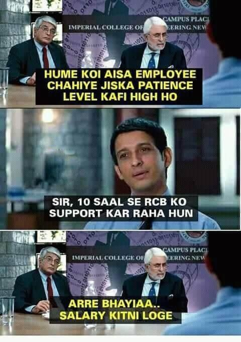 Funny Memes On Rcb After The Loss Masti Hub Funny Facts Funny Insults Really Funny Memes