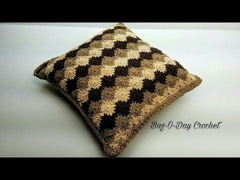 How To Crochet Pillow Vintage Harlequin Throw Pillow Bagoday Crochet Tutorial 453 Y Crochet Pillow Patterns Free Crochet Pillow Pattern Crochet Pillow