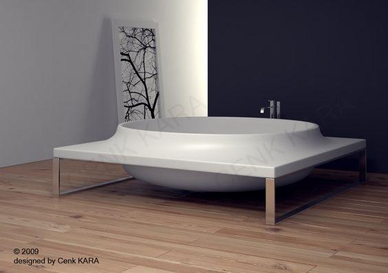 Bathtube Design By Cenk Kara At Coroflotcom Bathtube Design By - Cool fruit inspired bathroom sinks lemon by cenk kara