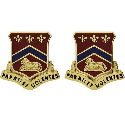 123rd Field Artillery Regiment Unit Crest Parati Et Volentes Artillery The Unit Regiment