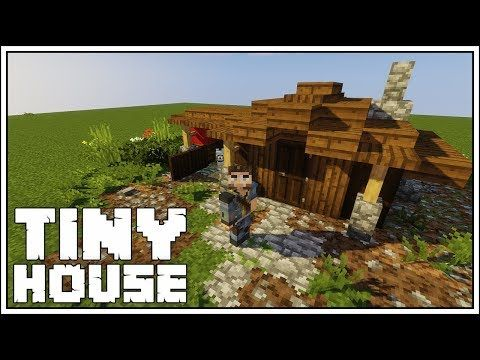 How To Build A Very Tiny House In Minecraft Youtube Minecraft Tutorial Minecraft Construction Cute Minecraft Houses