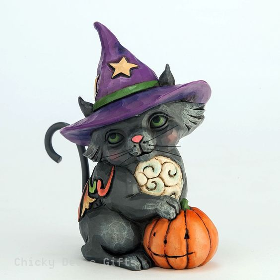 Jim Shore Mini Black Cat Witch 4047843 NEW 2015 Halloween