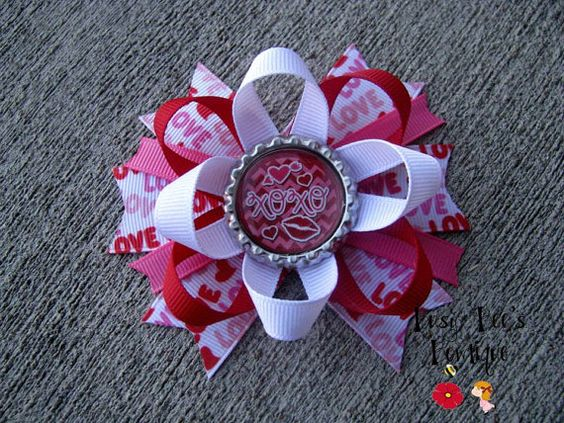 Valentine's Day Inspired Busy Bee's Signature by Busybeesbowtique, $8.00
