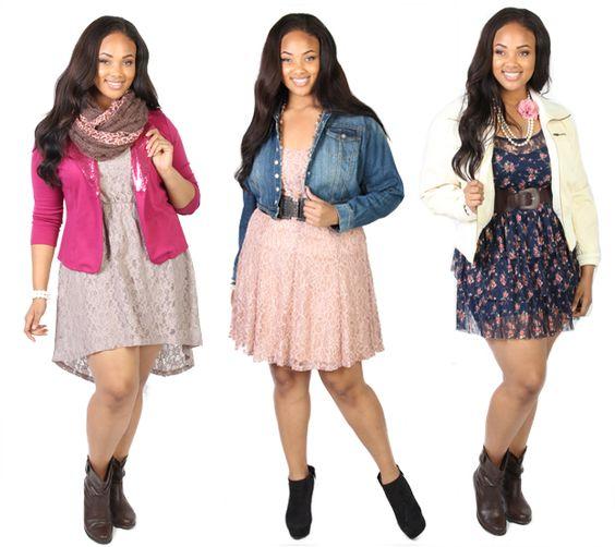 Trendy dresses plus size