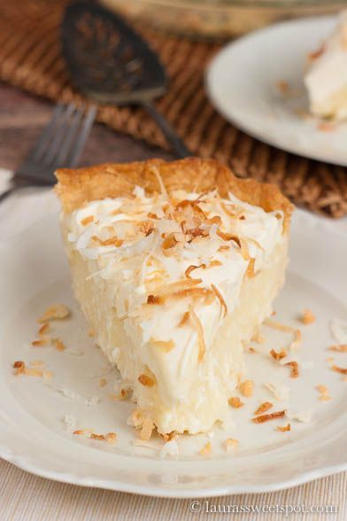 """Ultimate Coconut Cream Pie"" You know, come to think of it, I've never made a coconut cream pie and I'm not even sure I've ever had one. But it looks and sounds DELISH."