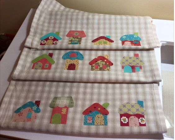 Elise Kalika made these precious tea towels using the GO! Small Houses Die…