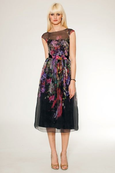 Floral Printed Midi Cocktail Dress - the perfect guest of a ...