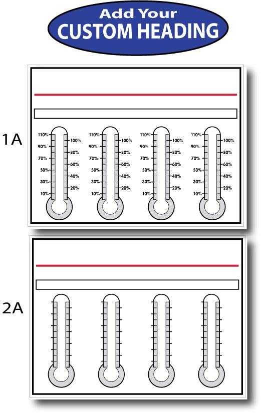 Goal Thermometers Dry Erase  Goal Chart As Low As