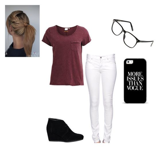 """""""Untitled #332"""" by fashonforeverz ❤ liked on Polyvore featuring Object Collectors Item, Citizen of Humanity, TOMS and Cutler and Gross"""