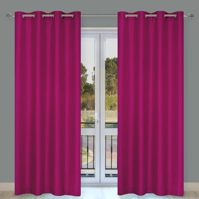 LJ Home Silkana Faux Silk Grommet Curtain Panel Color: