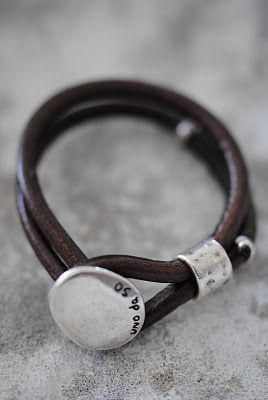 A nice men's leather bracelet  #accessory #bracelet #kysa