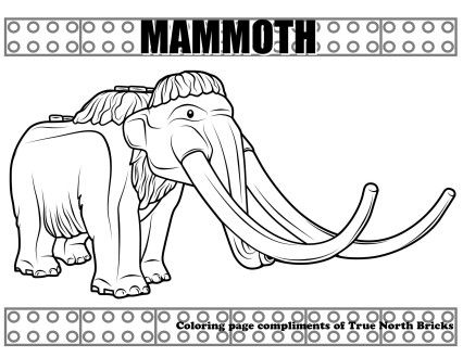Coloring Page Mammoth True North Bricks Coloring Pages Lego Coloring Pages Mammoth