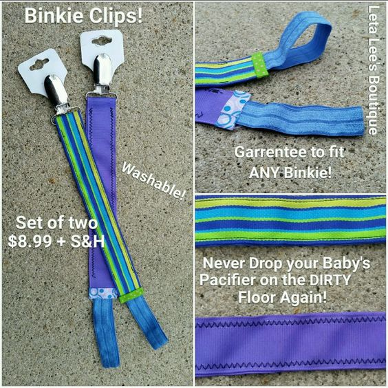 Set of Two Binkie/Pacifier Clips, Unisex Garrentee to fit Any binkie! in Clothing, Shoes & Accessories, Baby & Toddler Clothing, Girls' Clothing (Newborn-5T) | eBay