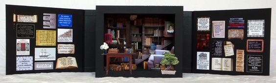 Armario: libro túnel / tunnel book   Vista frontal completa / front view