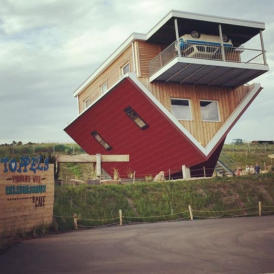 If you find it difficult enough in the morning, we suggest you don't try picking up your morning coffee from this place. It's in Wertheim, Germany, so it's a pretty long way to go. It's also upside down. However, if you're ever in the area, you might want to pay a trip to see The Toppels' roadside cafe – an upside down coffee shop, which sits next to an upside down house, which is open to the public.