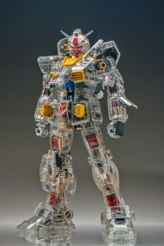 GUNDAM GUY: PG 1/60 RX-78-2 Gundam [Mechanical Clear Ver.] - Painted Build