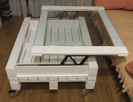Mesas de palet en el salón | Hacer bricolaje es facilisimo.com