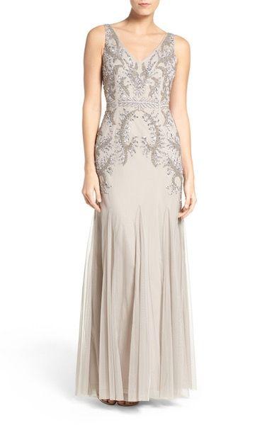Main Image - Adrianna Papell Beaded Gown (Regular & Petite)