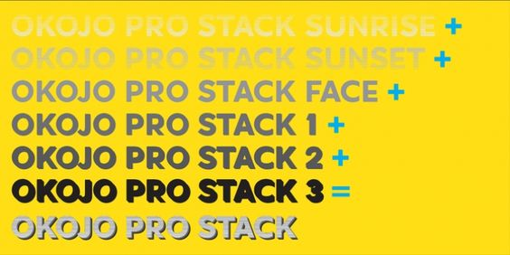 Okojo Pro Stack font download