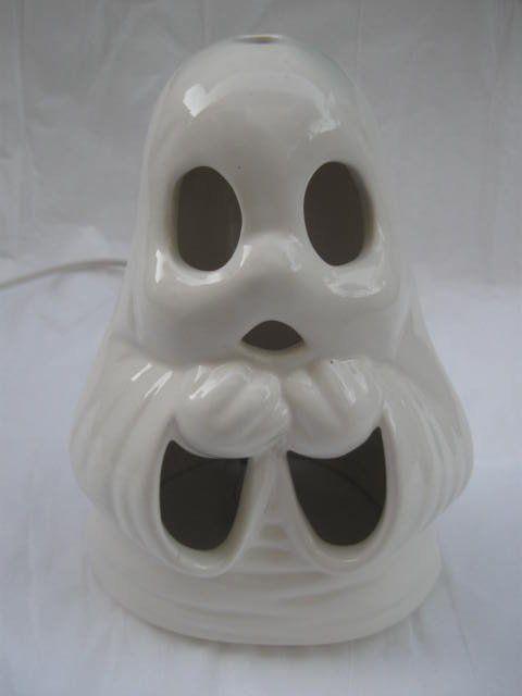 Spooky Halloween Ceramic Ghost Night Light